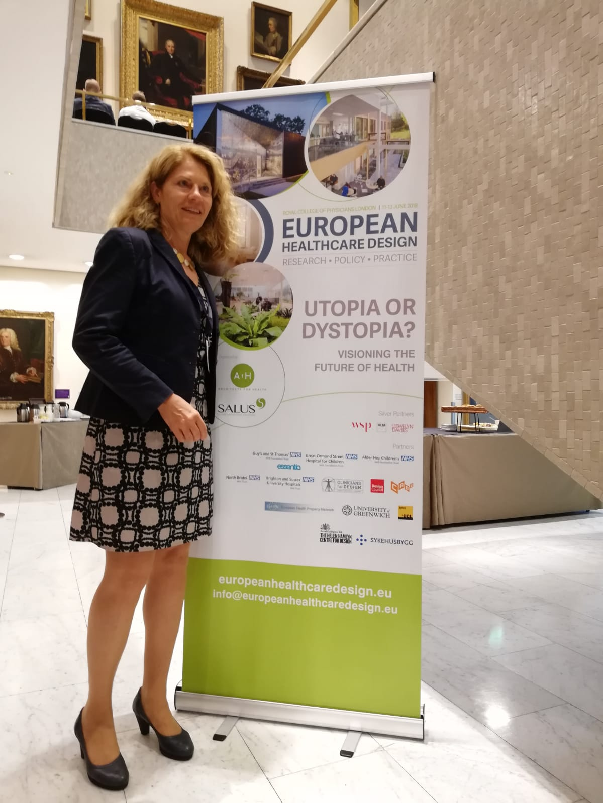 Dr. Birgit Dietz at the European Heathcare Design Conference in London