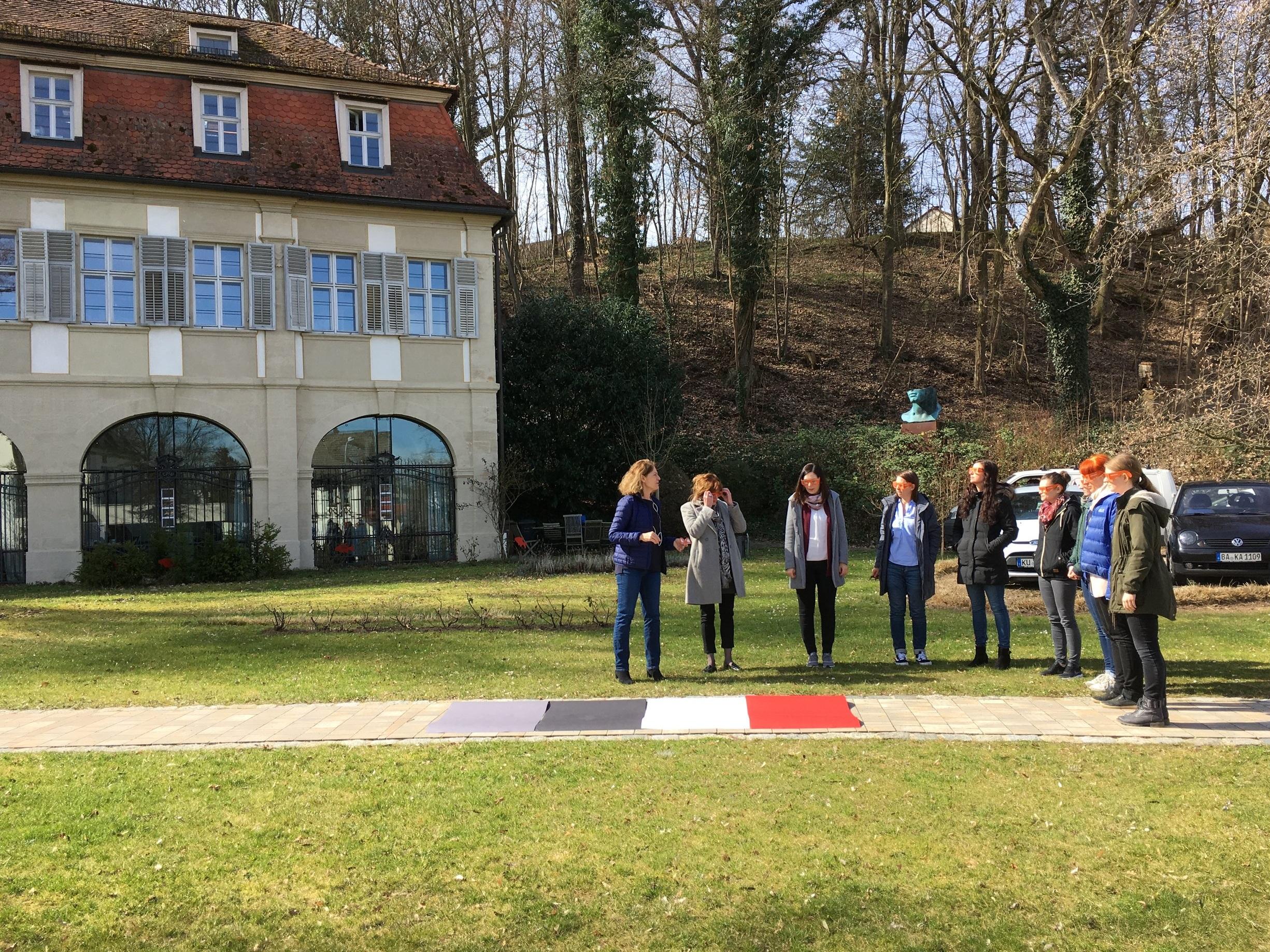 """Praxisteil beim Workshop """"Alters- und demenzsensible Architektur"""" im Februar 2019 im Fischerhof-Schlößchen in Bamberg"""