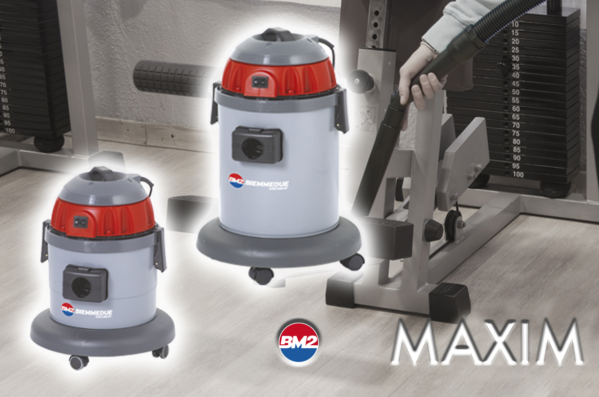 MAXIM - SINGLE-MOTOR WET DRY VACUUM CLEANERS FOR PROFESSIONAL USE