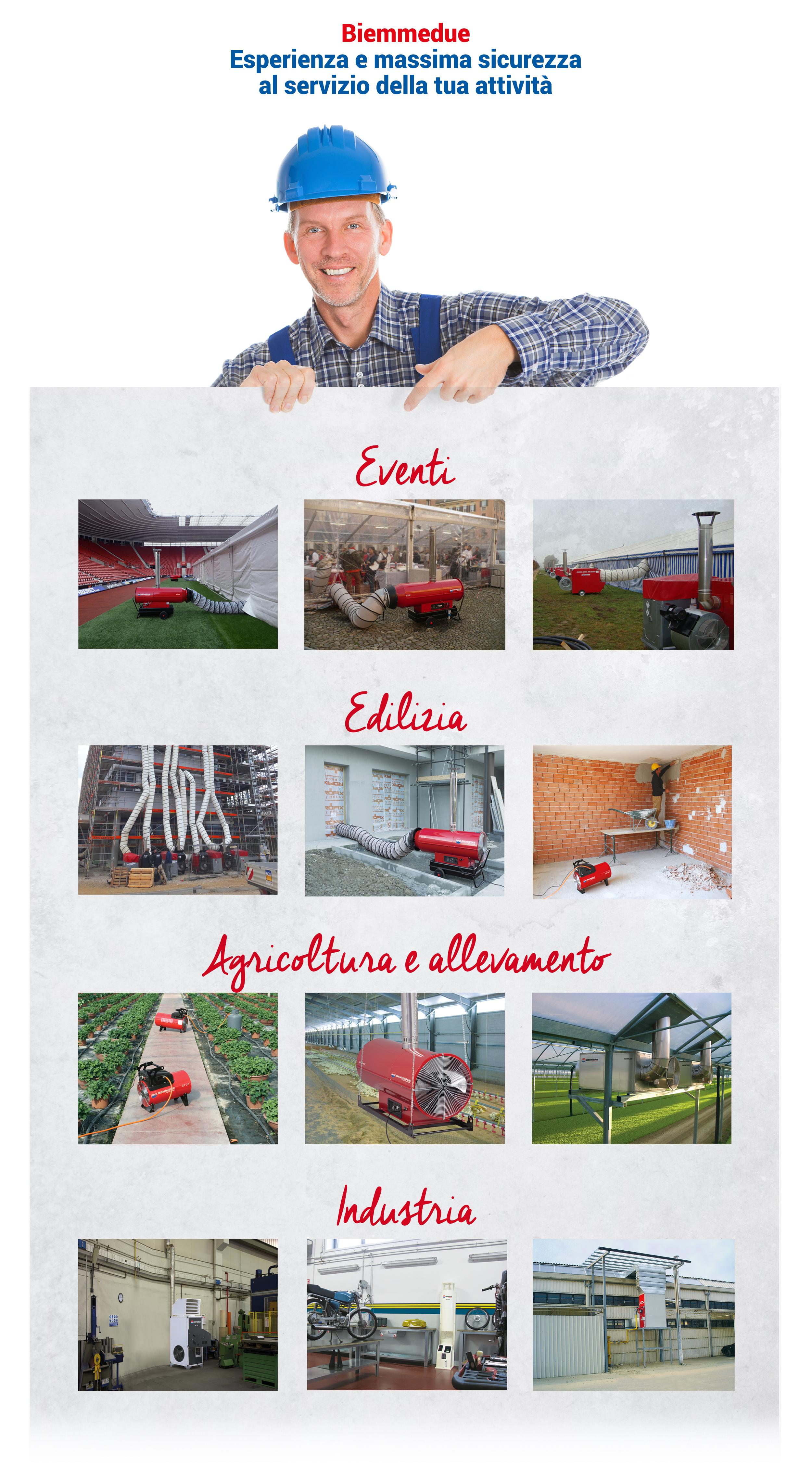 noleggio generatori d'aria calda biemmedue italia made in italy noleggio attrezzature professionali riscaldamento