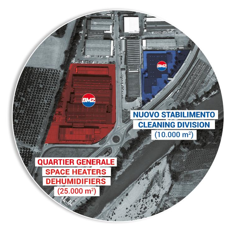 NUOVO STABILIMENTO - Concentramento delle attività del ramo cleaning in un unico e moderno stabilimento dedicato in Cherasco, di fronte alla sede legale dell'azienda