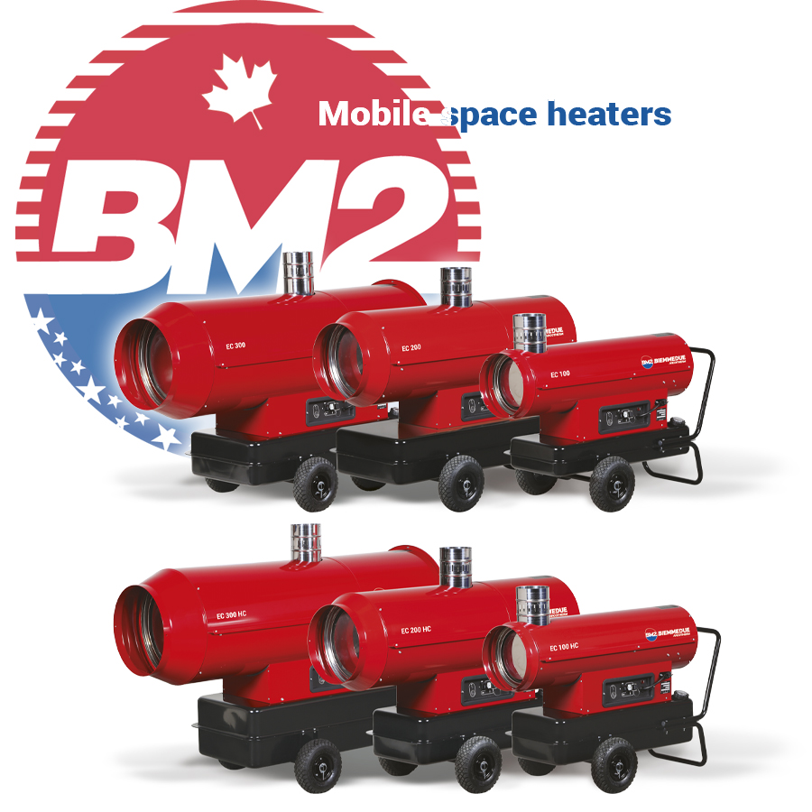 BIEMMEDUE are a world wide leader in the professional portable heater market in the construction, equipment rental, agricultural and military sectors.