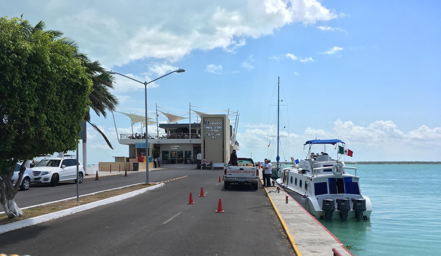 The Chetumal ferry terminal is modern, like the rest of the city