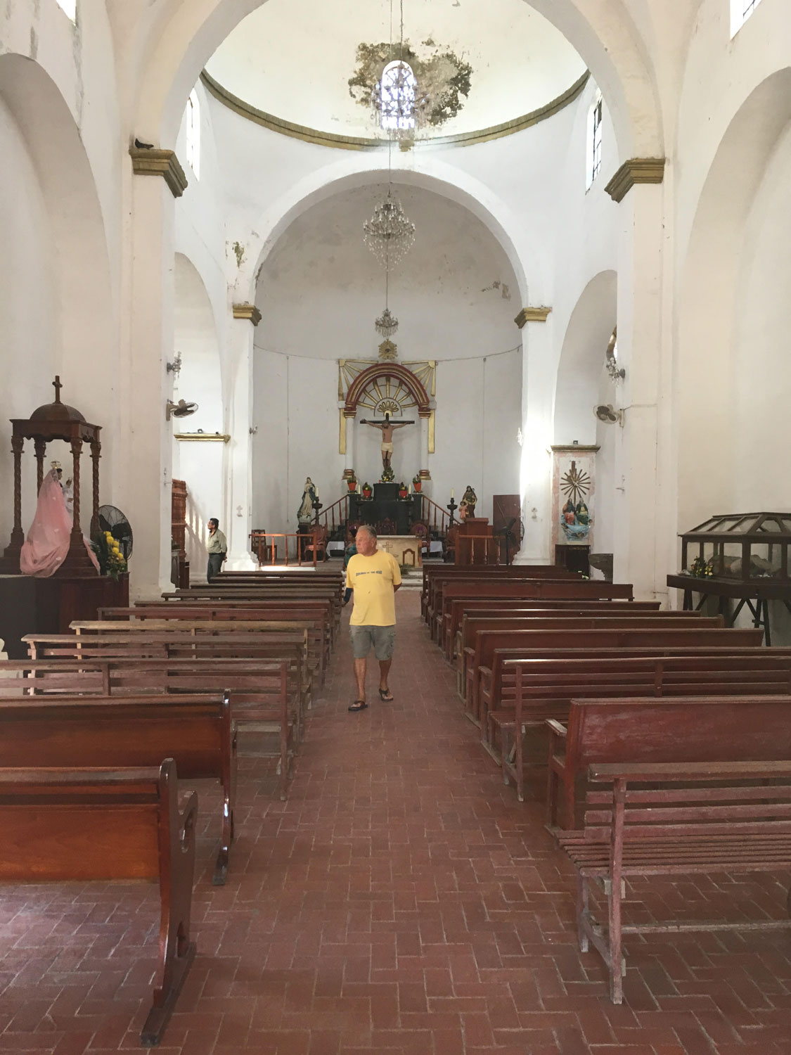 The church on the main square, right next to Hernán Cortés's House, is used by the locals but the man in the photo is my friend John. February 2017.
