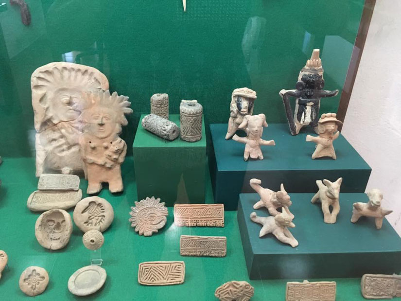Ancient Totonac artefacts from the site