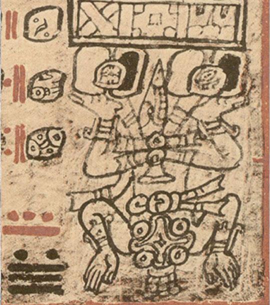 Az Tzul Ahaw, Venus God, in Dresden Codex p. 58 (photo 2)