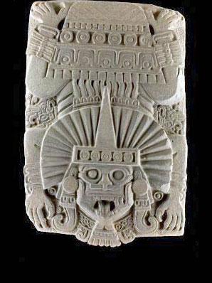 Descending God, place of origin not specified, National Museum of Anthropology, Mexico City.