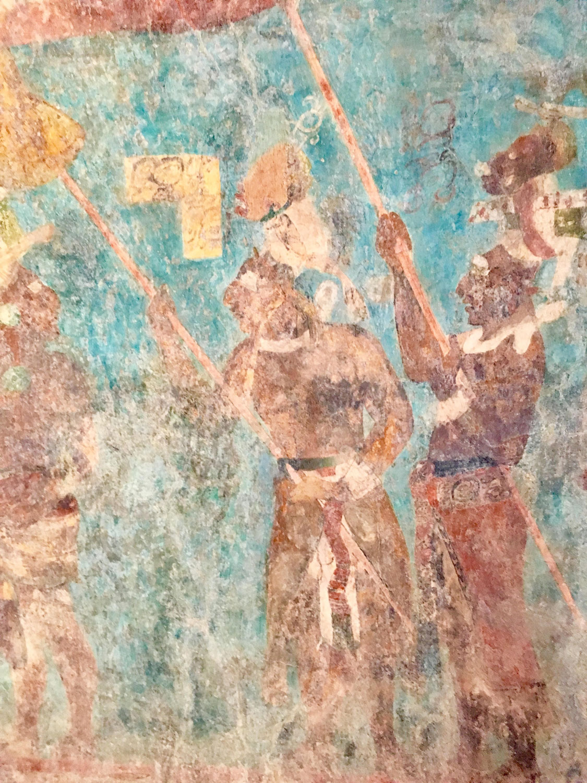 Mayan warriors, Bonampak murals.