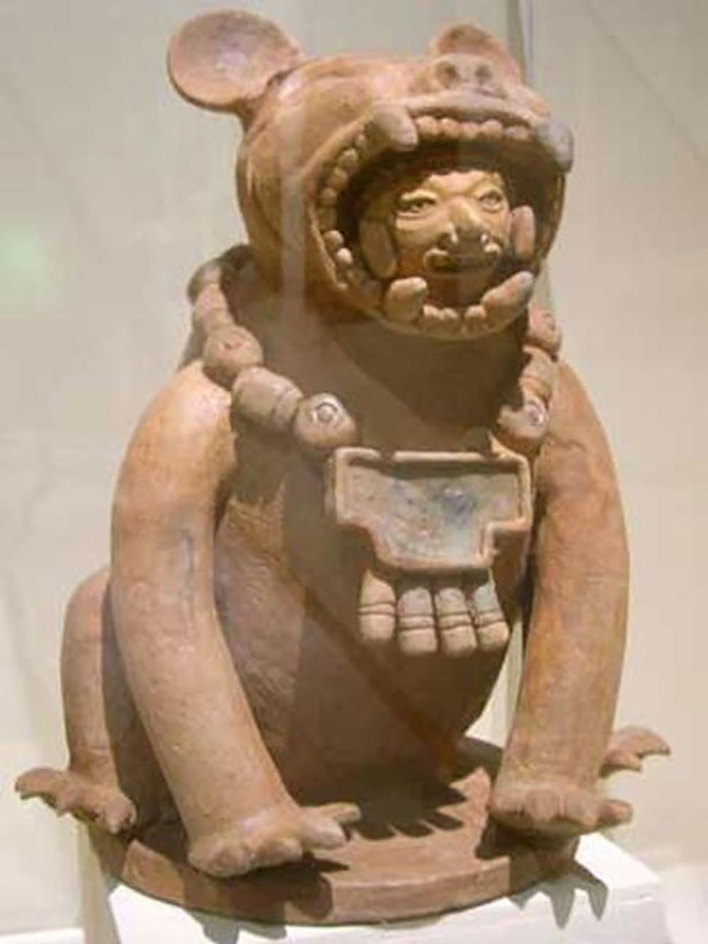 Jaguar warrior, from Cihuatan, the largest Mayan site in El Salvador.