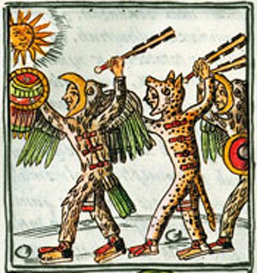 Eagle and Jaguar Warriors, Florentine Codex Book 2
