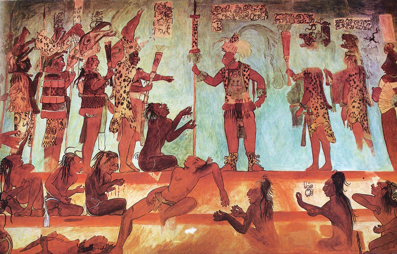 Bonampak mural, 792 AD.
