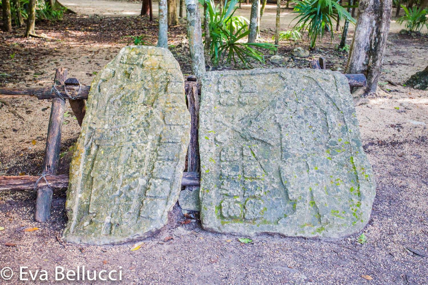 Rulers on stone slabs by the main Ball Court.