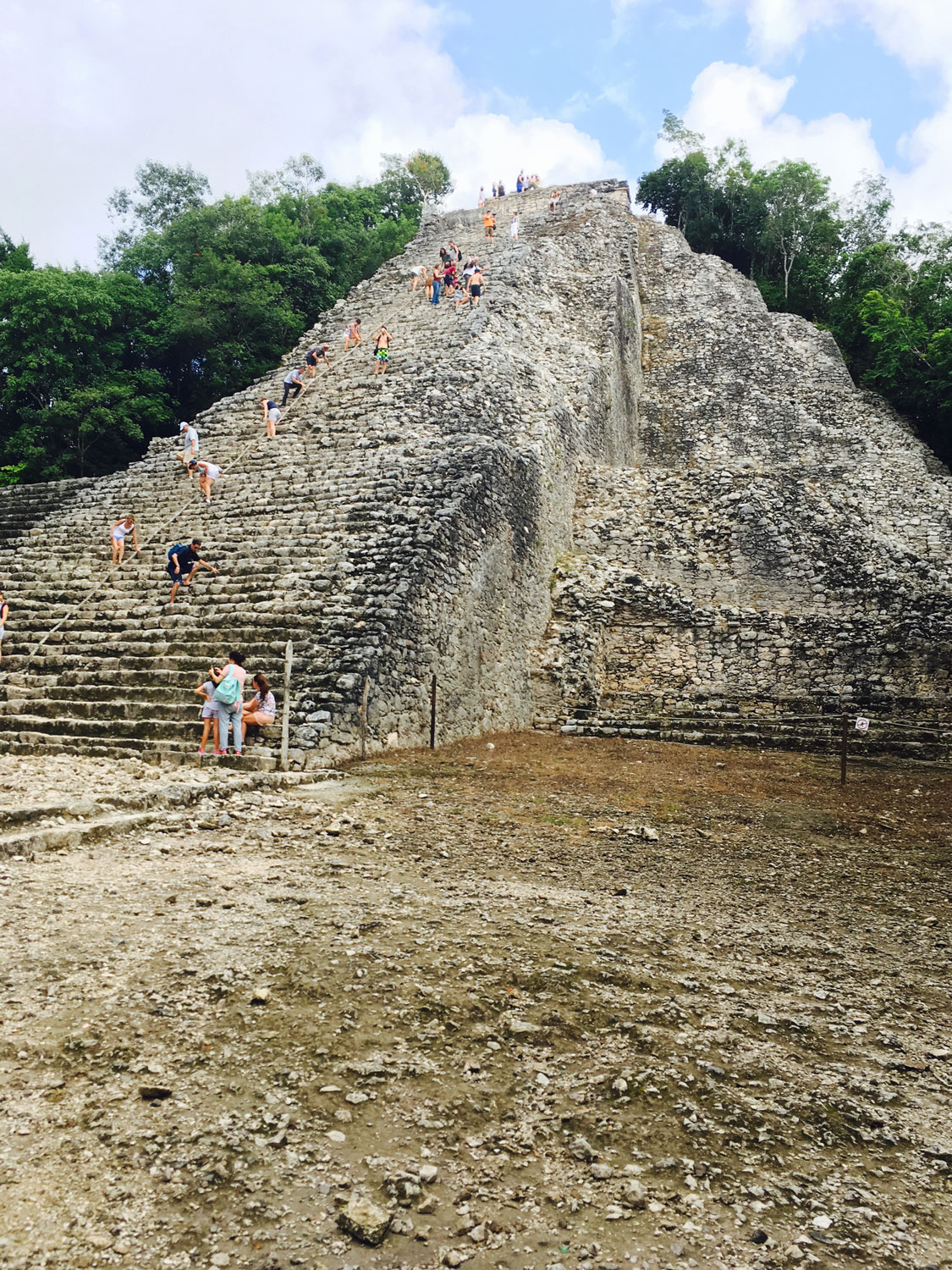 On top of the pyramid (and the 'world') with my sister, 2015.