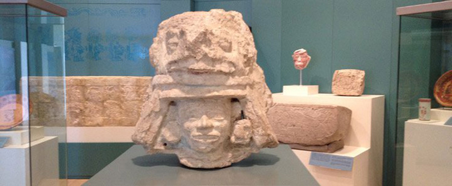 The king's stone head is now at the Cancún Mayan Museum