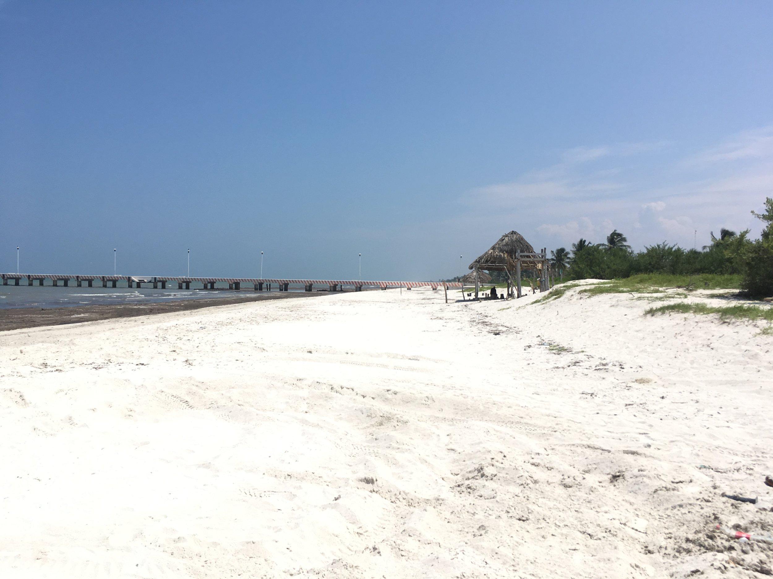 El Cuyo beach.