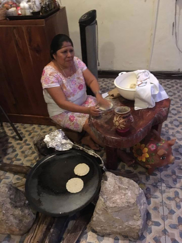 They make fresh tortillas on the spot at Atrio del Mayab.