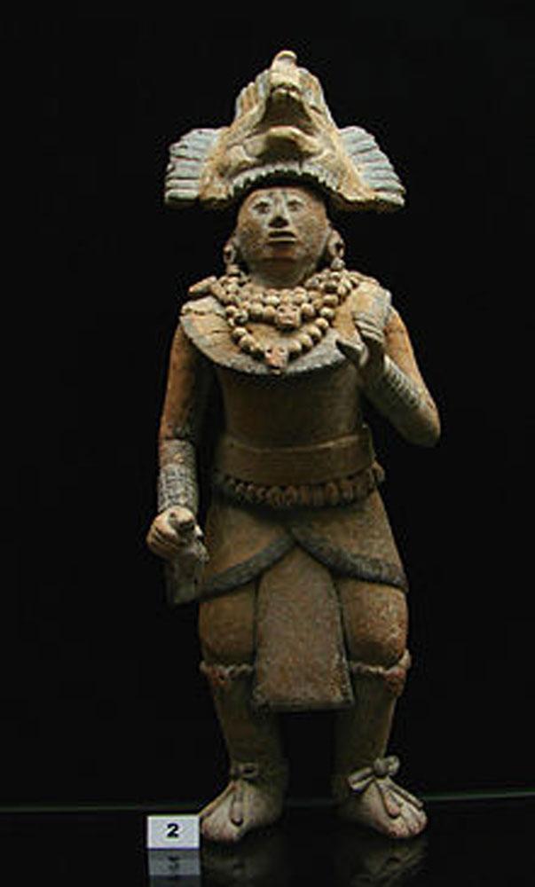 A Mayan sculpture from Chakán Putum.