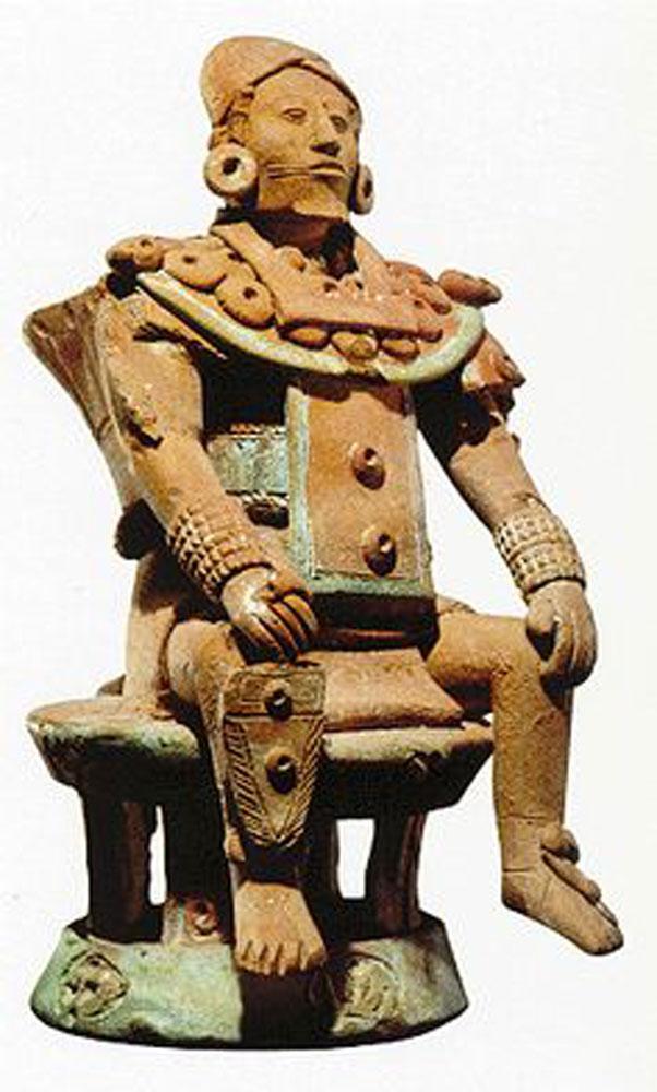 Halach Uinic, sculpture from Jaina Island, 600-800 AD.