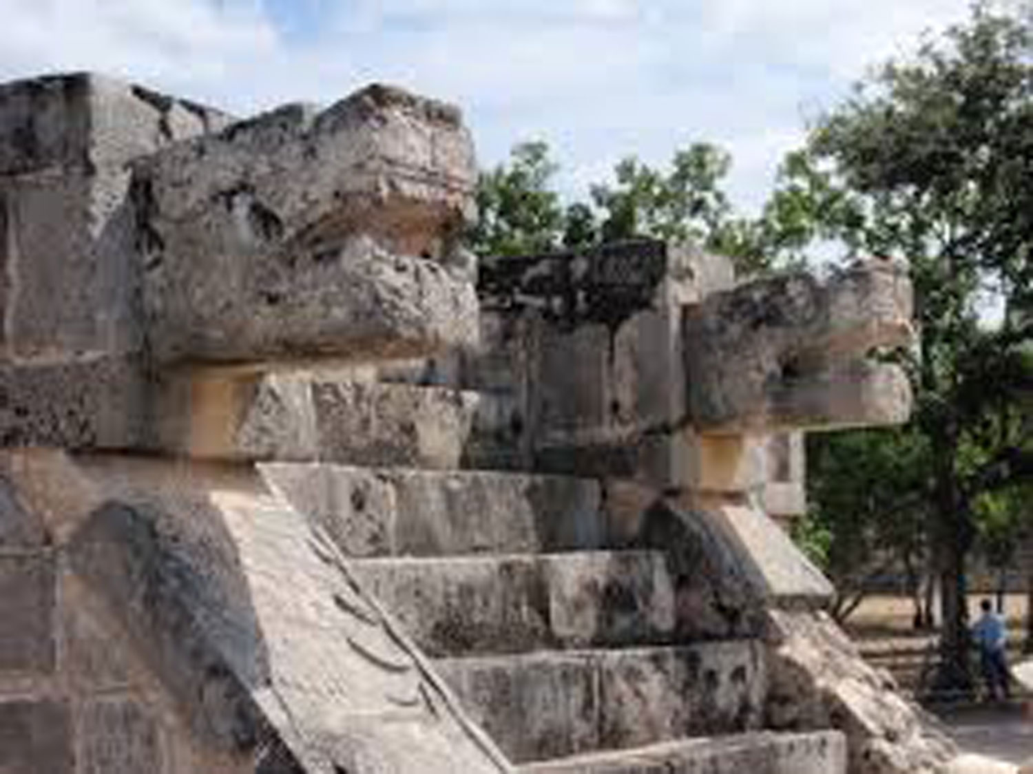 Chichén Itzá, the Platform of the Eagles and Jaguars.