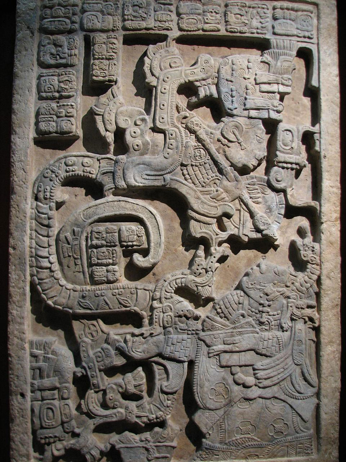 The Vision Serpent, Lintel 25, Yaxchilán, British Museum.