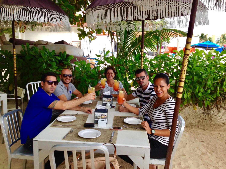 With friends at Indigo bar.
