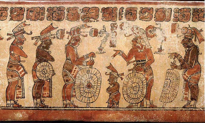Dwarf with warriors. Source:  latinamericanstudies.org