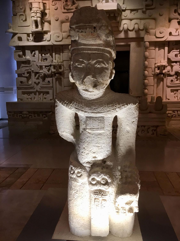 Ek' Balam figure (600-900 AD). Death impersonator?