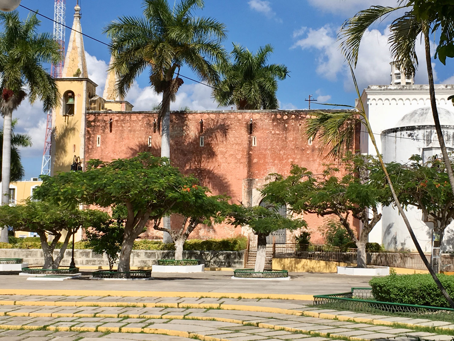 Parque de Santa Ana, just off Paseo de Montejo, colourful and vibrant.