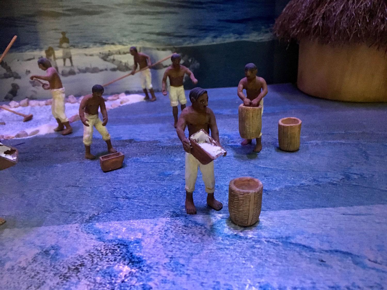 Salt workers.