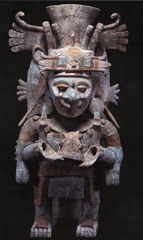 Itzamná incense urn, from Mayapán:  latinamericanstudies.org .
