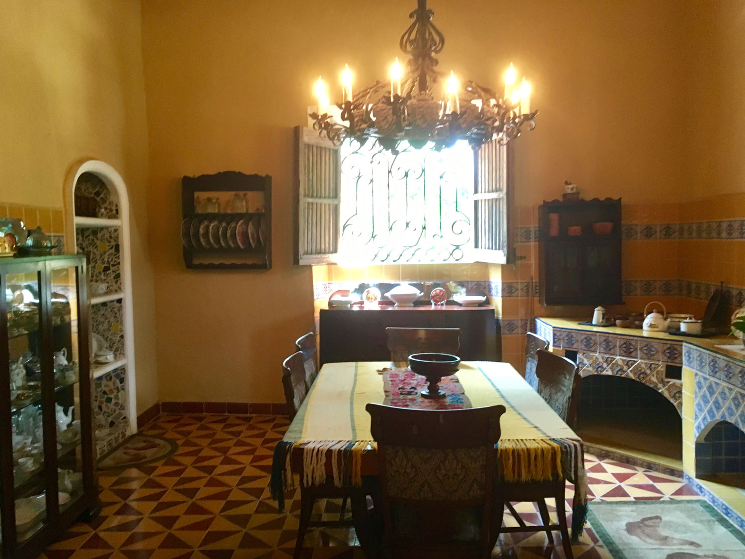 Period kitchen in the main house.