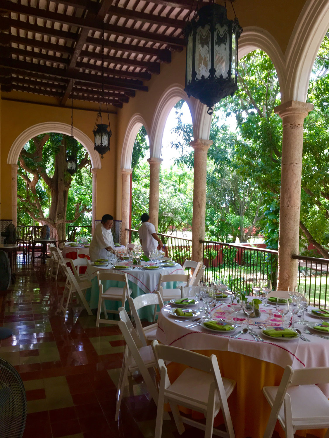The main house can be booked for private events.