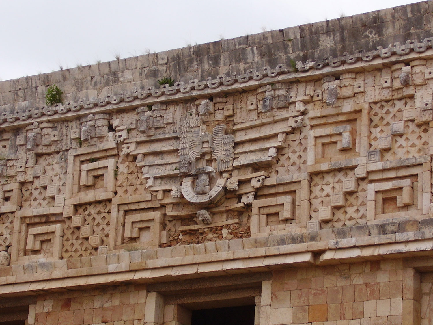 Lord Chac above the doorway.