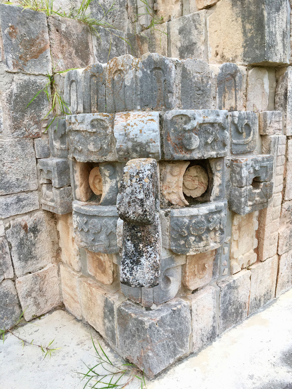 Uxmal monster on the Magician's Pyramid.