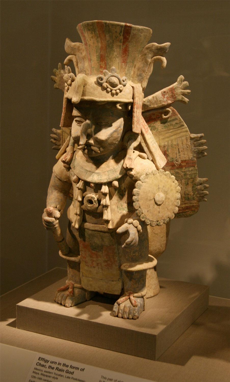 Chac, the God of Rain. Incense burner. Source:  wikipedia.org .
