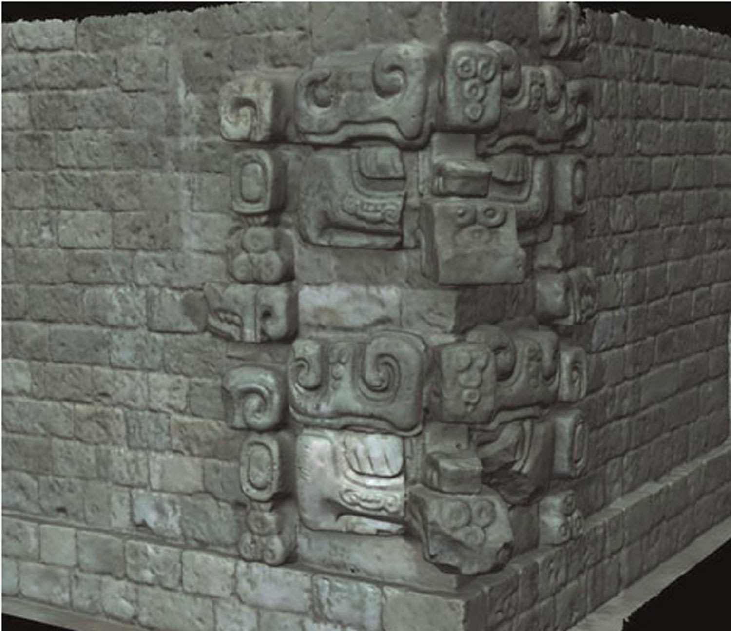 Stacked masks in Copán. Witz or Itzam Yeh?  Researchgate.net.