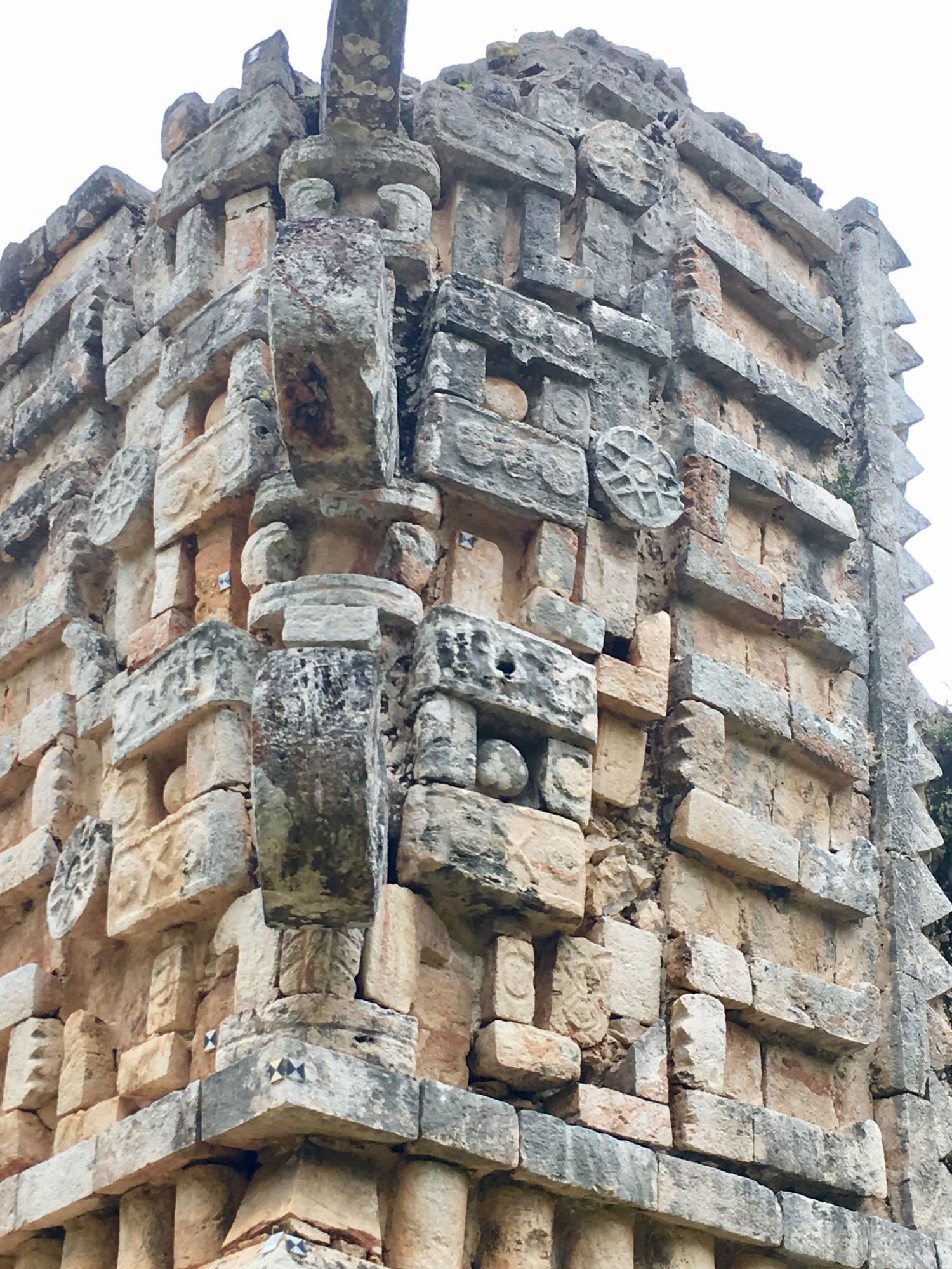 Xlapak ruins, Itzam Kah bird, a 'conjuring' house.