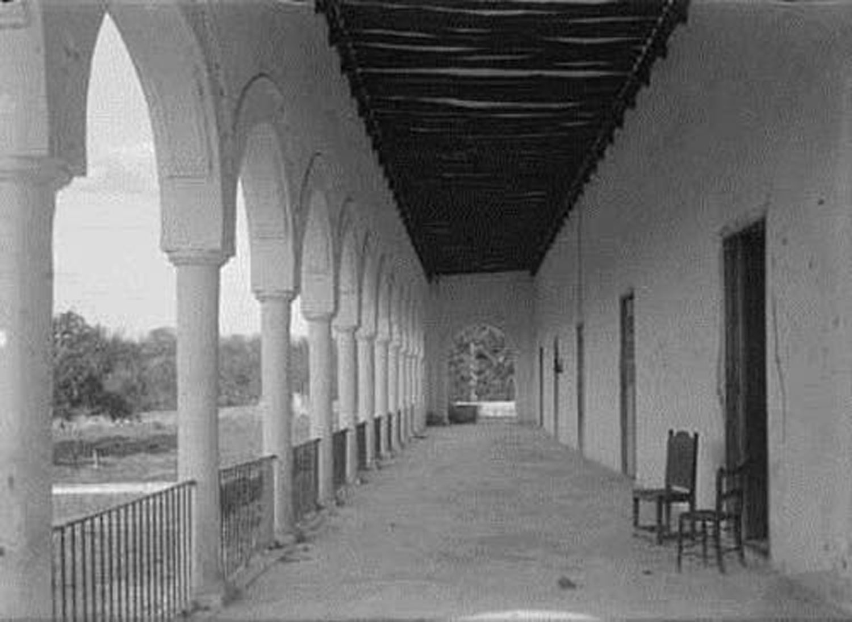 Original corredor (veranda) at the hacienda.