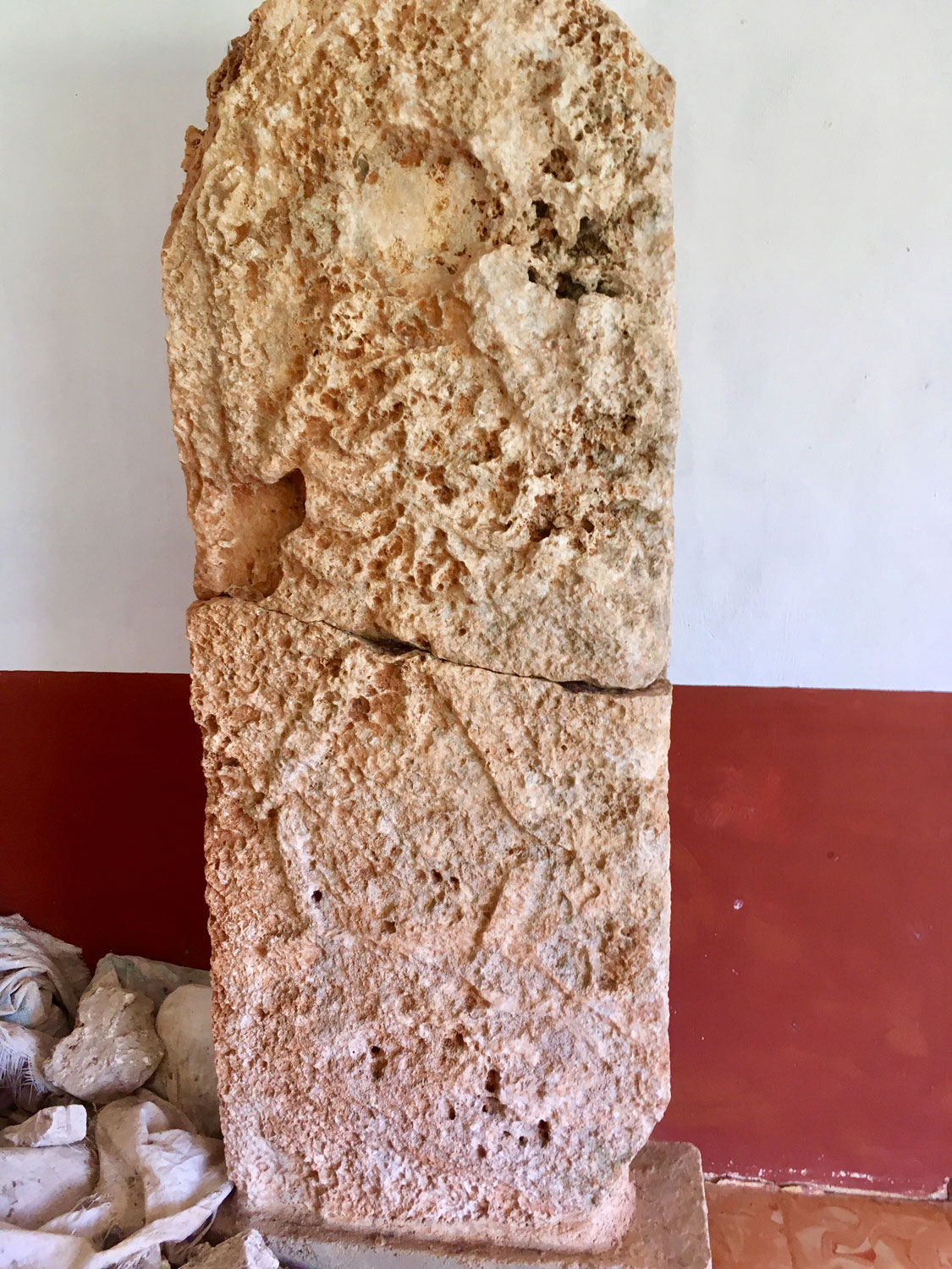 Stela from Uxmal: God of fertility? A captive with a phallus?