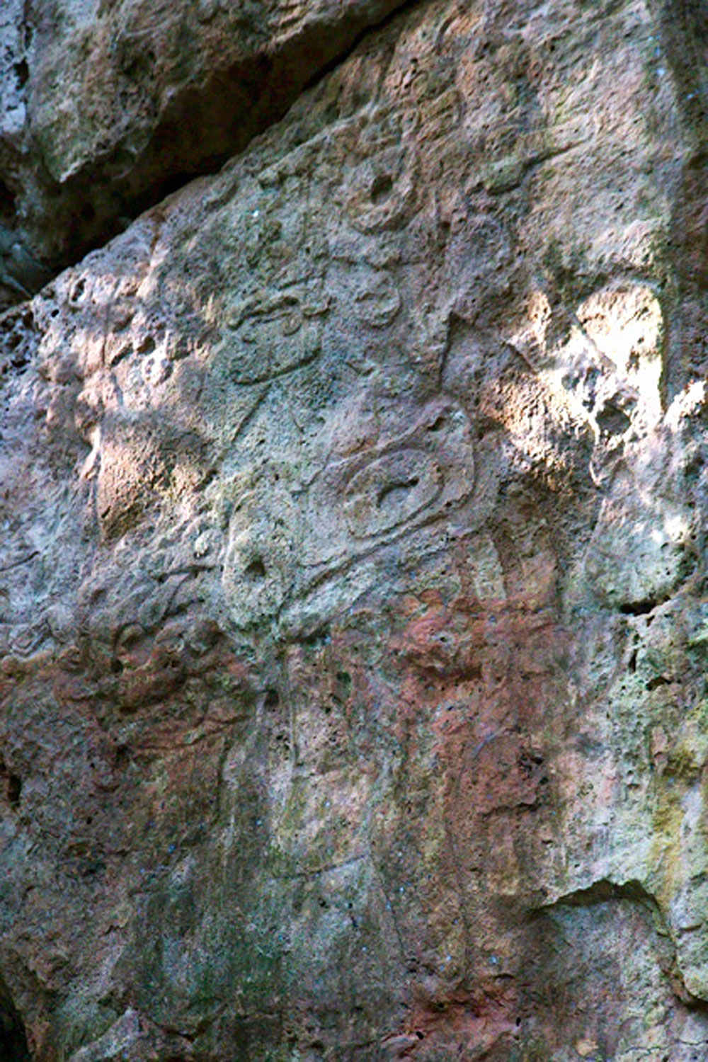 Nahcab Warrior. It is not easy to see the outline of the figure.