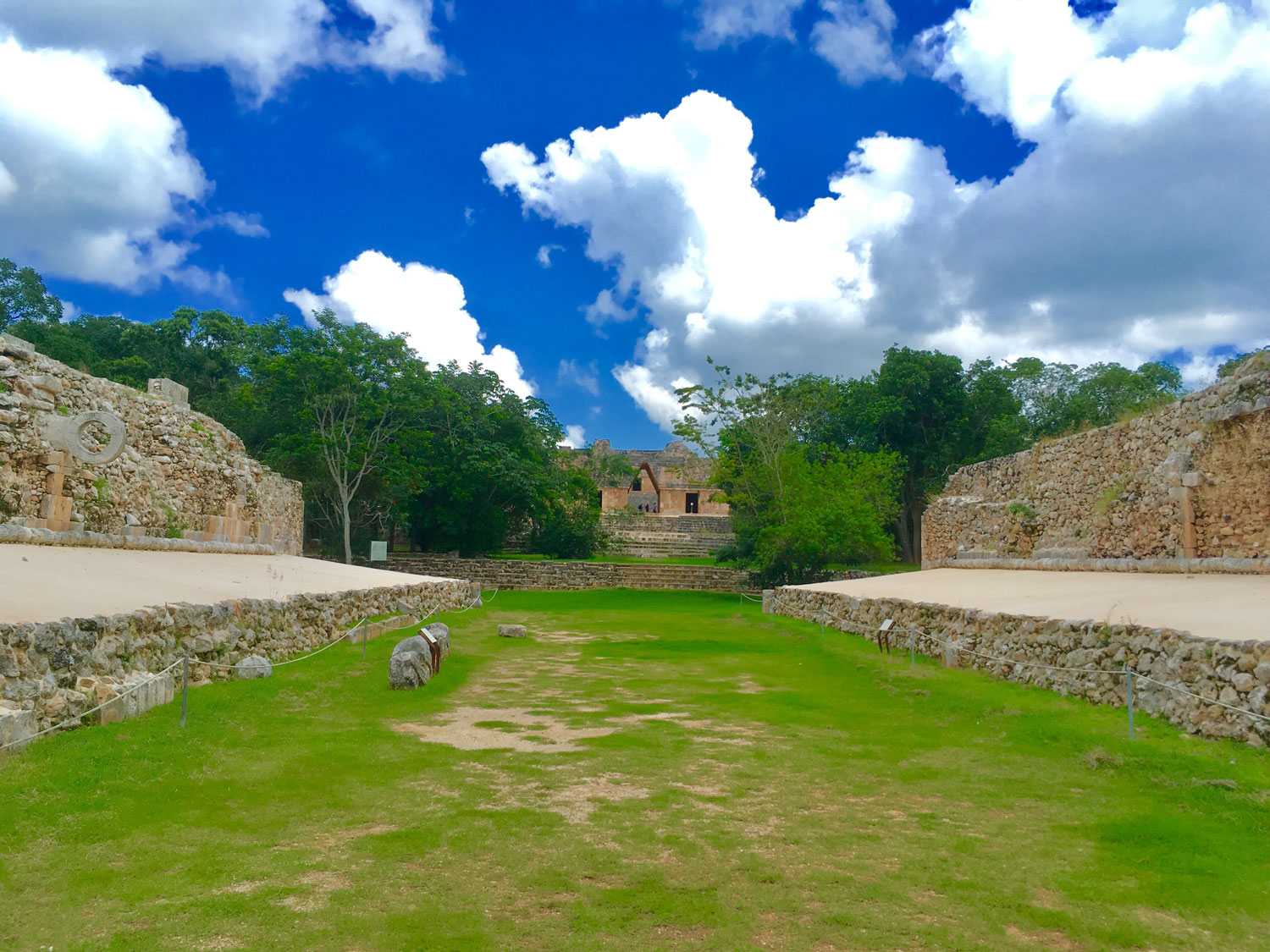 Uxmal   ball court. Above: Chichén Itzá ball court.