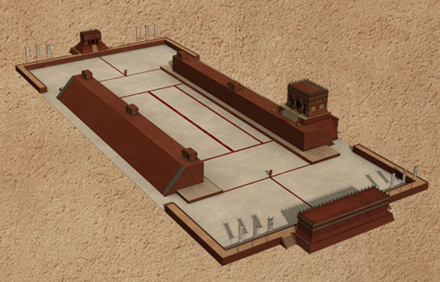 Model of  Chichén Itzá ballcourt:  wordpress.com .