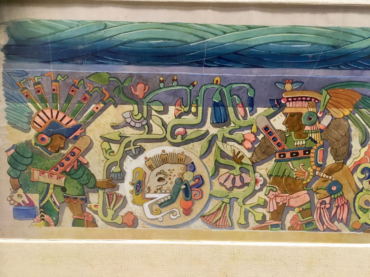 Another part of the scene in colour:   Mérida Mayan World Museum .