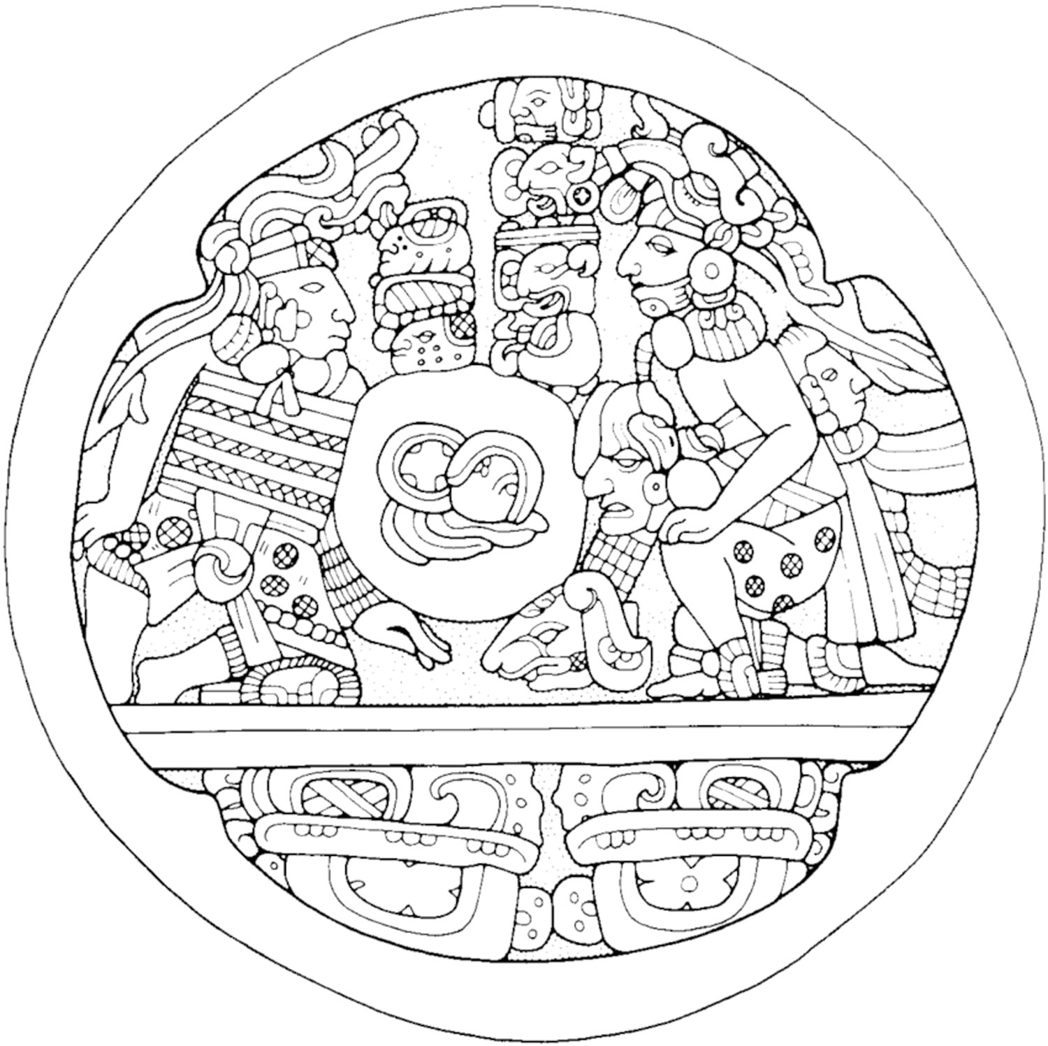 Copán ball court marker. Source:  researchgate.net .