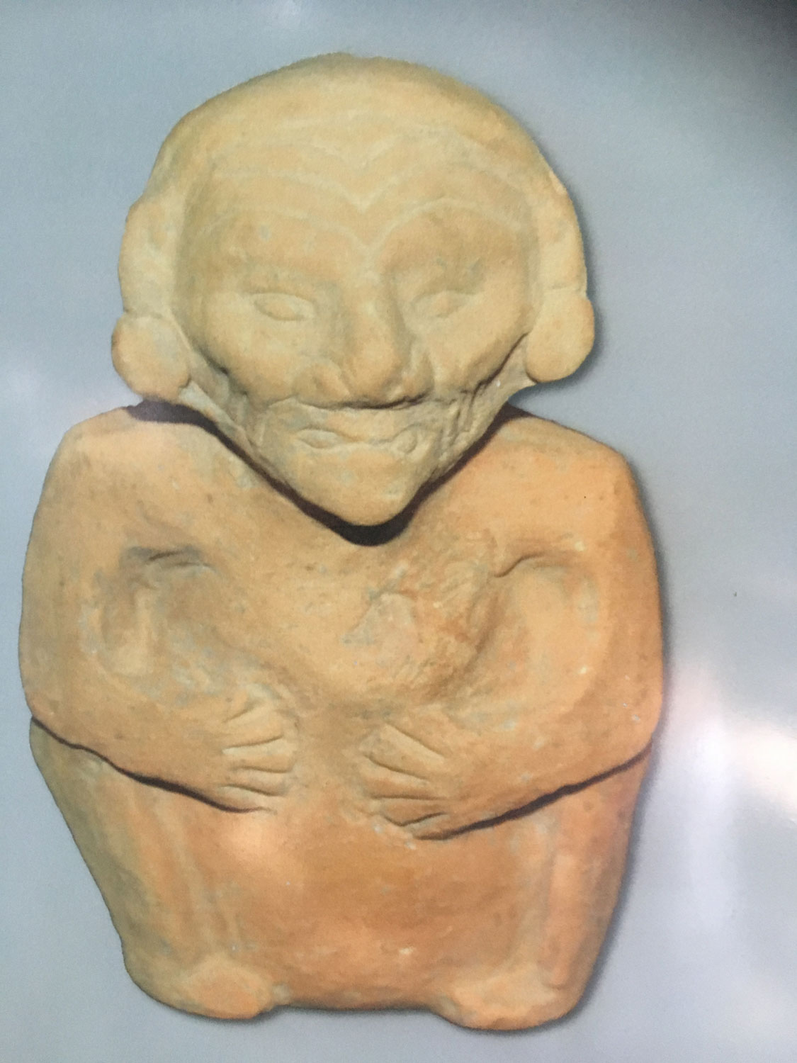 A sculpture found at San Miguelito.