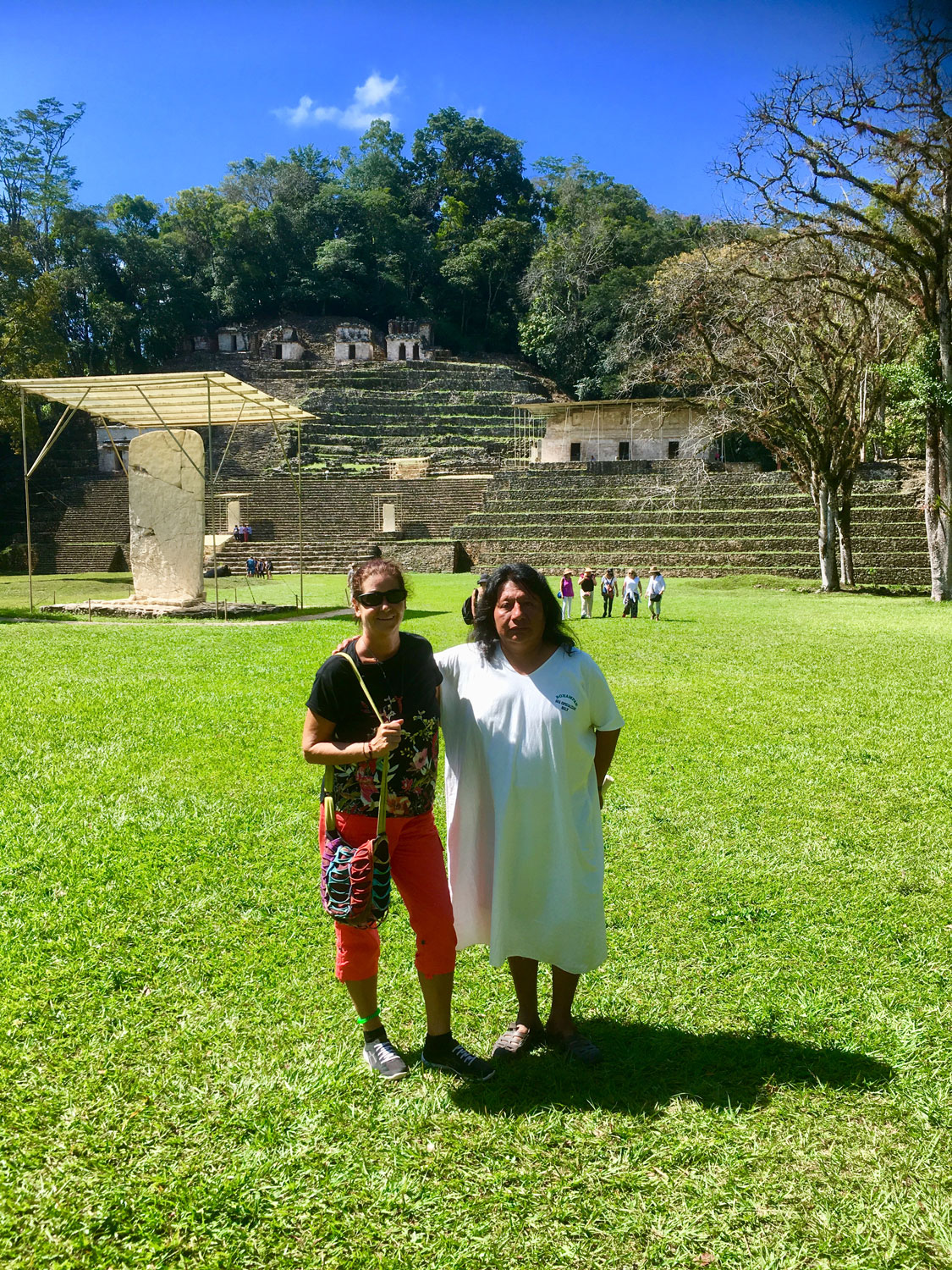 With Billy, the Bonampak guide, in 2018.