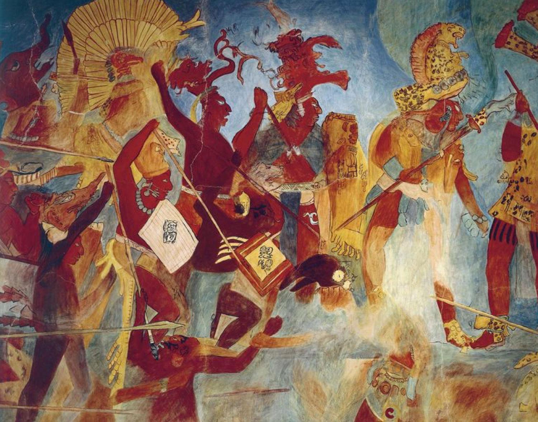 The warriors of Chan Muwaan II in the battle. Source:  pinterest.com .
