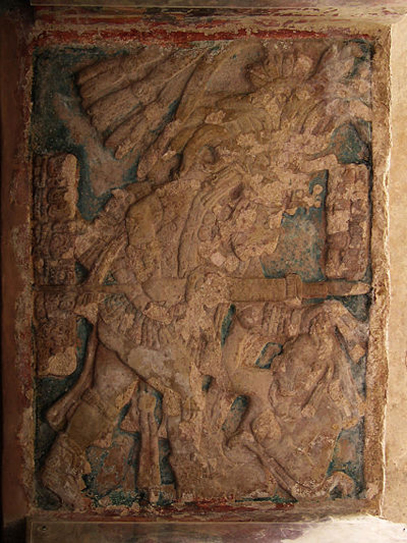 Lintel 1 in Bonampak depicts Yajaw Chaan Muwan capturing an enemy on January 12, 787 AD:  mesoweb.com .