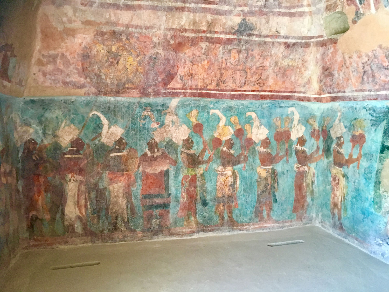 The musicians of the court, Bonampak murals.