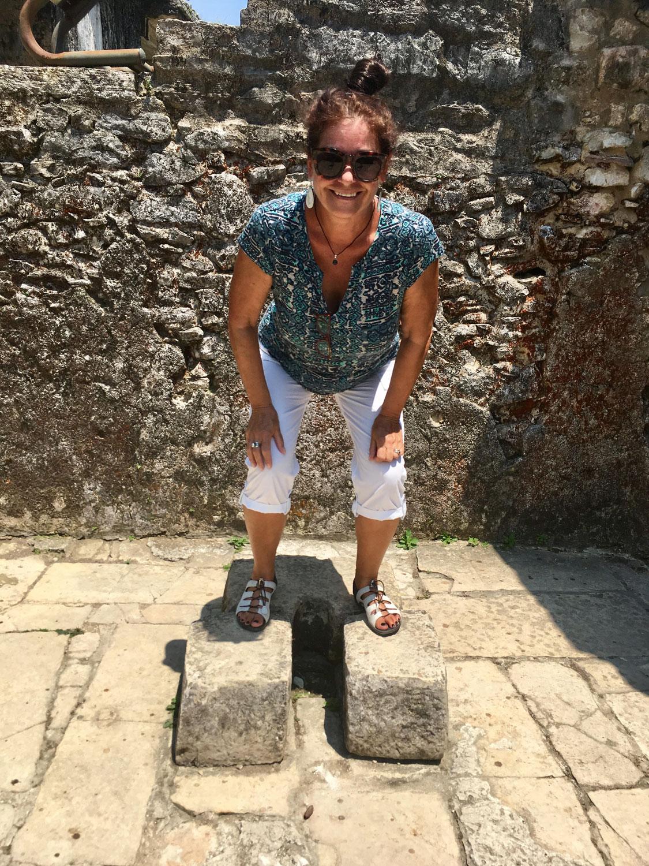 Mayan female squat toilet.